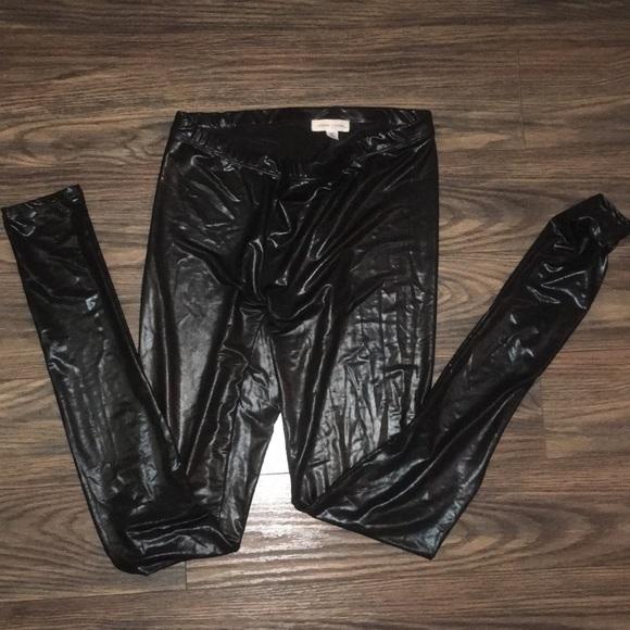 9c394cd108849 silence + noise Pants | Silence And Noise Shinny Black Leggings Size ...